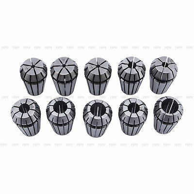 10pcs 1-10mm Er16 Spring Collet Set For Cnc Milling Lathe Tool Engraving Machine