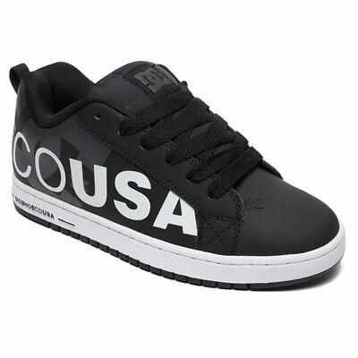DC Shoes Men's Court Graffik SE Low Top Sneaker Shoes Black White (Court Graffik Se Sneaker)