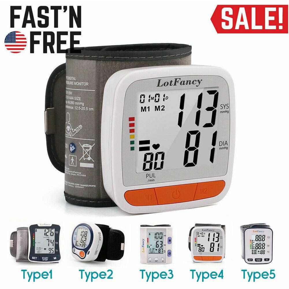 Digital Wrist BP Cuff Blood Pressure Monitor Heart Beat Puls