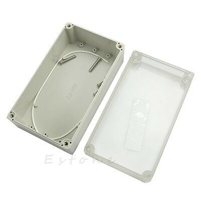 158x90x60mm Waterproof Clear Electronic Project Box Enclosure Plastic Cover Case