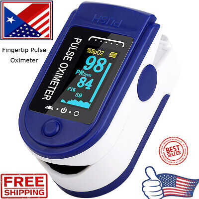 Fingertip Pulse Oximeter Blood Oxygen Saturation Spo2 Finger Pr Monitor Hot