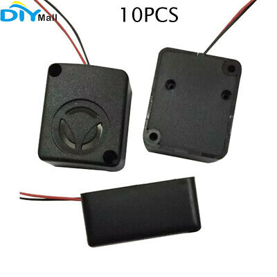 10pcs Black Mini Piezo Alarm Siren 110db Dc12v Anti-theft High-decibel Buzzer
