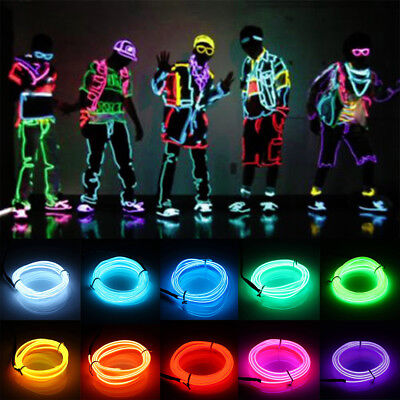 TSLEE Flexible EL Wire LED Neon Light Tube Glow Strobing Electroluminescent Rope (Neon Glowing Strobing Electroluminescent Wire)