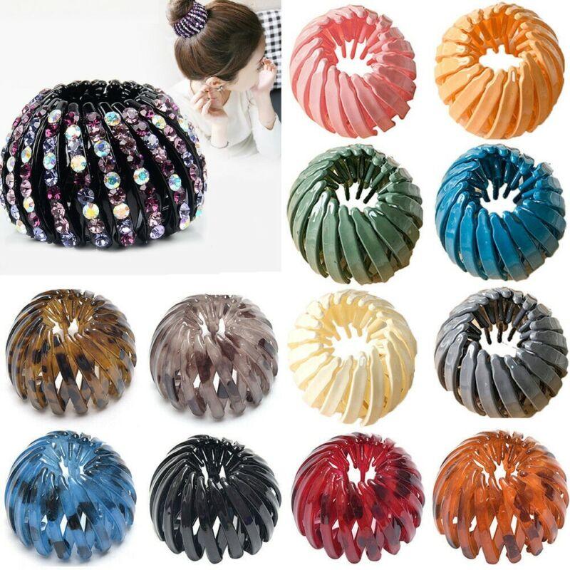 Women Bird Nest Expanding Ponytail Tail Hair Bun Holder Clip Claw Girls Hairpin