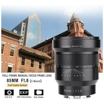 Viltrox 85mm F/1.8 Manual Focus Full Frame Lens for Sony E Mount Cameras UK
