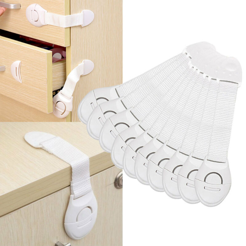 Child Baby Toddler Pet Cupboard Cabinet Safety Locks Proofing Door Drawer Fridge