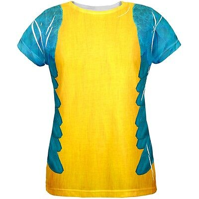 Halloween Blue & Yellow Parrot Macaw Costume All Over Womens - Blue Macaw Halloween Costumes