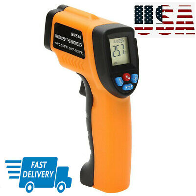 Us Infrared Thermometer Non-contact Digital W Laser Temperature Battery Trendy