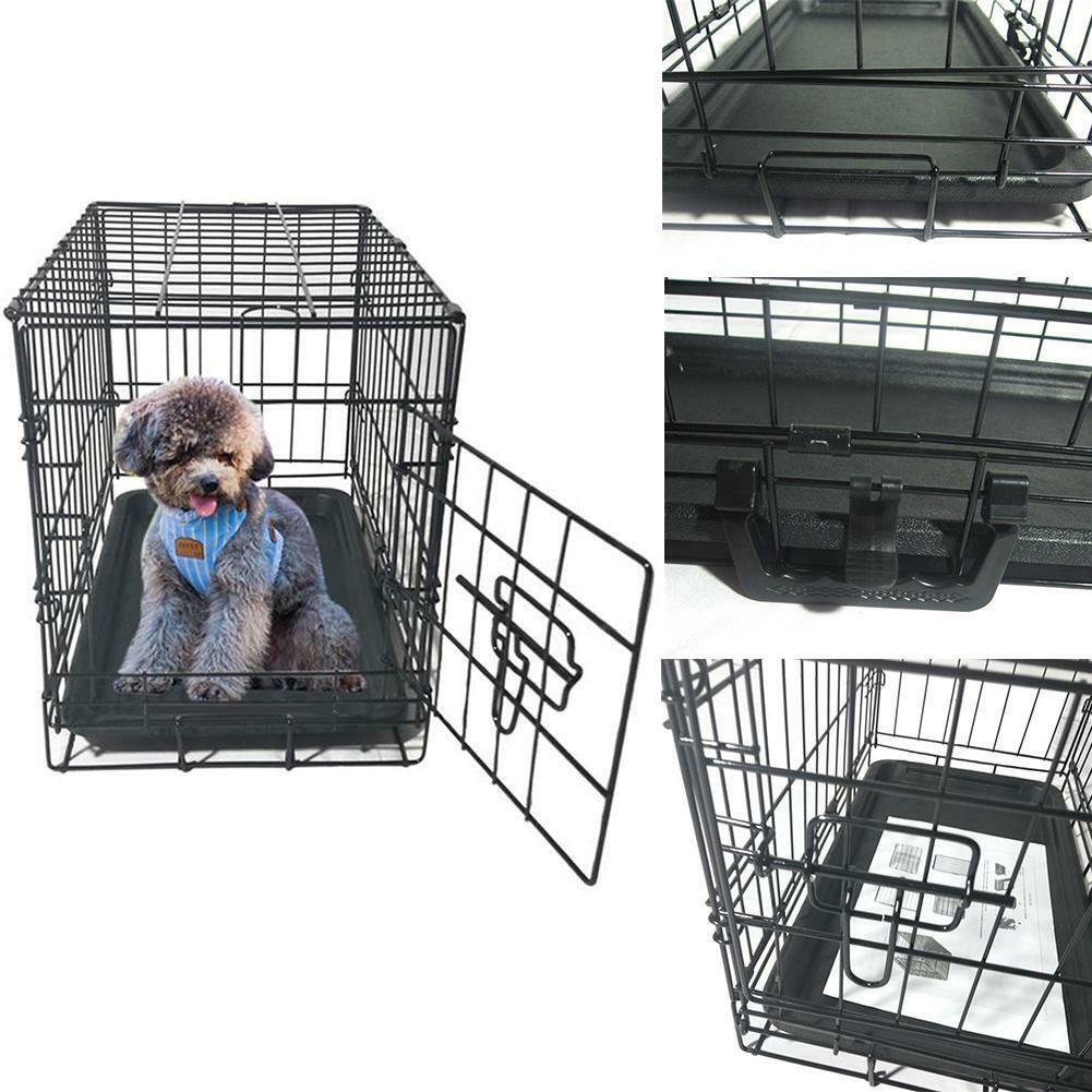 20 inch Pet Kennel Cat Dog Folding Steel Crate Black Animal
