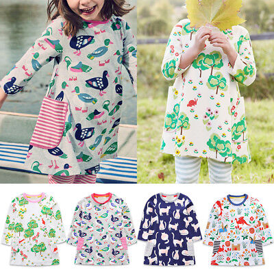 Funny Dress For Kids (Funny Prints Birds Cats Tops Dress For Kid Baby Girls School Day Holiday)