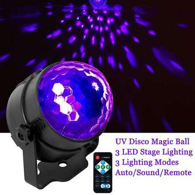 Rotating Disco Ball (UV Strobe Lamp DJ Rotating Ball LED Stage Laser Black Lighting Disco Club)