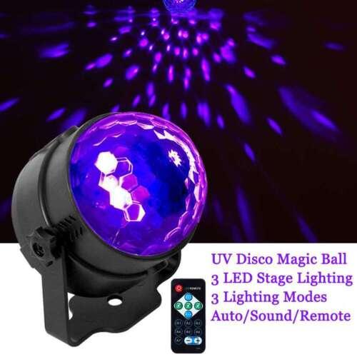 UV Strobe Lamp DJ Rotating Ball LED Stage Laser Black Lighti