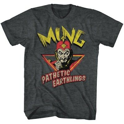 Flash Gordon Ming Pathetic Earthlings Adult T Shirt Classic Movie - Flash Adult