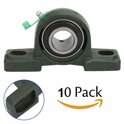 Ucf205-16 Pillow Block Flange Bearing 1 Inch Bore 2 Bolt Solid Base 10pcs New