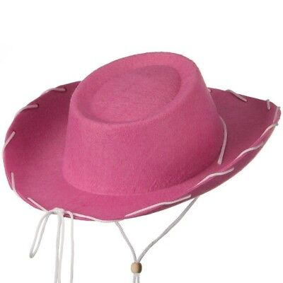 Pink Felt Cowboy Child Hat Woody Toy Story Jessie Cowgirl Sheriff Costume Movie](Toy Cowboy Hat)