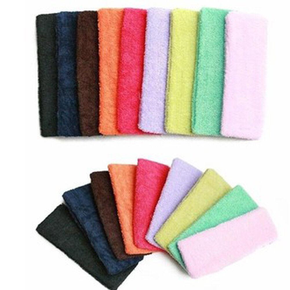 Frottee Haarband Stirnband 5cm Haarschmuck Schweißband Kopftuch viele Farben NEU