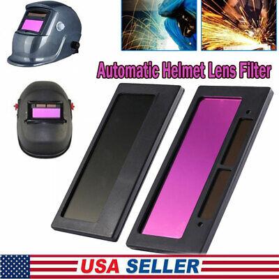 4-14 X 2 Solar Auto Darkening Welding Lens Hood Filter Shade 3-11 Din1110