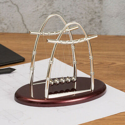 Newtons Cradle Balance Ball Physics Science Pendulum Office Desk Gadget Toy