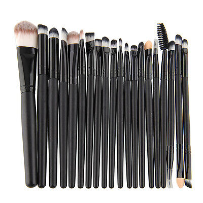 20pcs Set Powder Eyeshadow Brushes Pro Makeup Cosmetic Tool Foundation Lip Brush