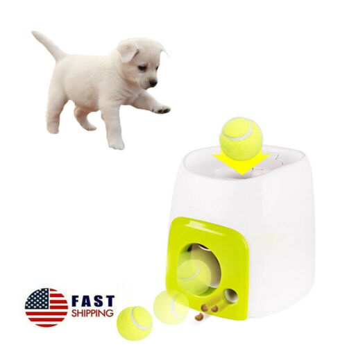 Automatic Dog Feeder Toy, Interactive Dog Ball Fetch and Treat Dispenser Toy