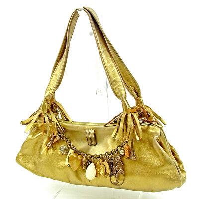 Chloe Handbag Gold Woman Authentic Used S628