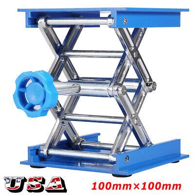 4 Aluminum Lab Lift Lifting Platforms Stand Rack Scissor Jack Bench Lifter Tabl
