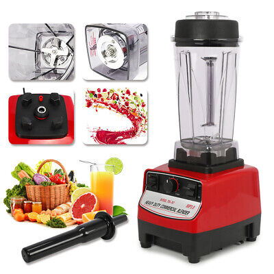 Home Commercial Blender 2l 2200w Food Processor Mixer Smoothie Juicer Heavy Duty