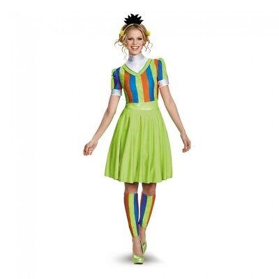 Sesame Street Bert Fancy Dress Womens Adult Costume Halloween SM MD LG