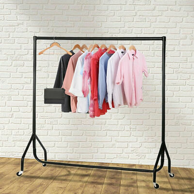 4ft Heavy Duty Clothes Rail Garment Rack Home Storage Display