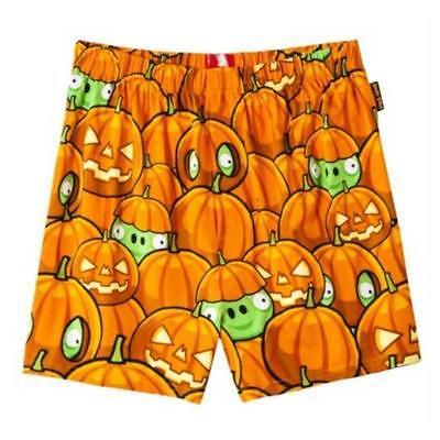 NEW ANGRY BIRDS HALLOWEEN PUMPKIN PIG Boxer Shorts Underwear Men L 36-38 - Angry Birds Halloween Pumpkin
