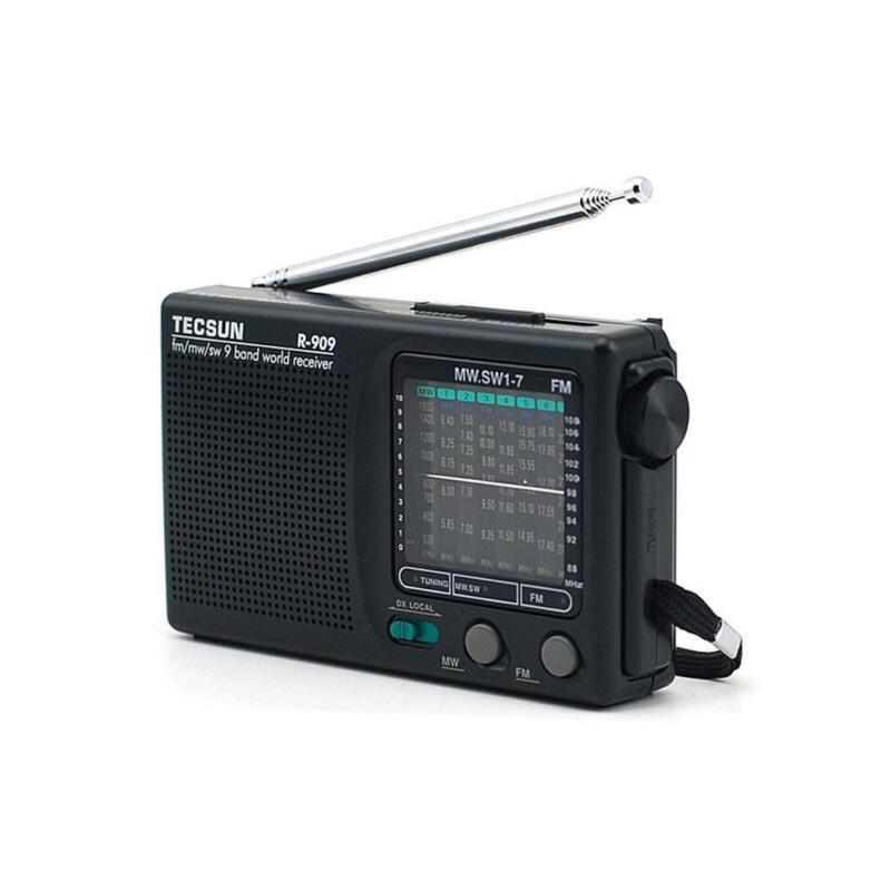 TECSUN R-909 Portable Radio FM MW SW 9 Bands World Receiver