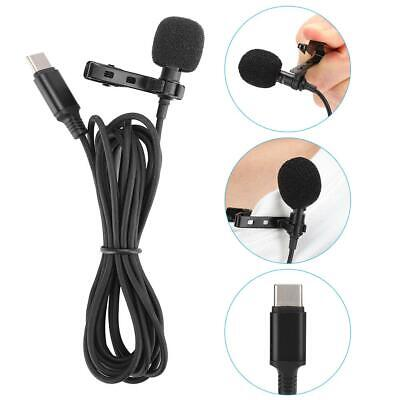 USB 3.5mm Type-C Wired Mini Clip-On Microphone Lavalier Lapel Mic for Phone PC Mini Usb Microphones