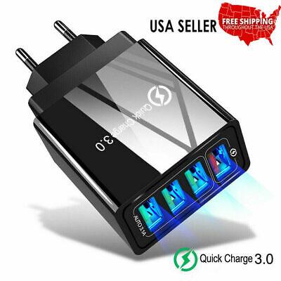 4 Multi Port Fast Quick Charge 3.0 USB Hub Wall Charger Adapter US Plug USA Usb Multi Plug