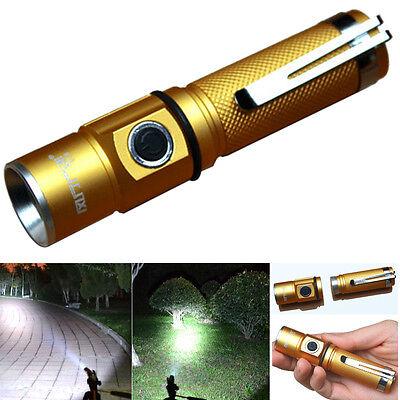 3000Lm CREE XPE Q5 LED Flashlight 3-Mode Aluminum 18650 Mini Protable Torch Lamp