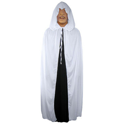 Halloween White Ghost Costume (White Cloak with Large Hood ~ HALLOWEEN PRINCESS GHOST RENAISSANCE COSTUME)