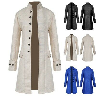 Men's Steampunk Tailcoat Jacket Gothic Victorian Frock Coat Cosplay Suit Lot (Steampunk Suit)