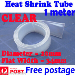 Heat Shrink tube Heatshrink tubing Sleeving clear Dia=20mm 1meter  AU STOCK