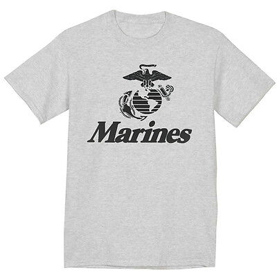 Us Marines Tshirt United States Marine Corps Usmc Shirt For Men Gray T Shirt