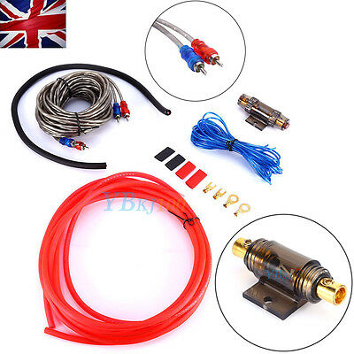 1500W Complete 10 AWG GAUGE Car Amp Amplifier Speaker Sub Subwoofer Wiring Kit