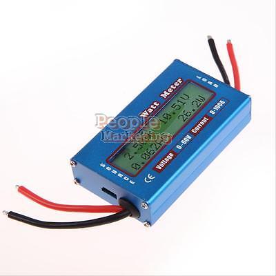 Digital Lcd Watt Meter Power Volt Amp Meter Rc Battery Solar Wind Analyzer Test