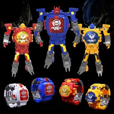 Transformers Toy Figure Robots Electronic Deformation Watch WHITE COLOR