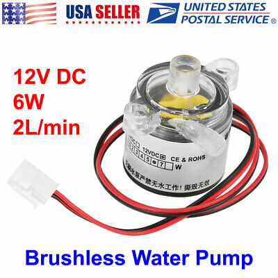 Mini 12v Dc 6w Food Grade Submersible Brushless Water Pump 2lmin New