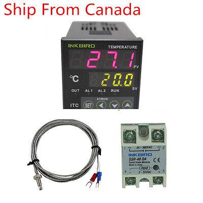 Itc-100vl Pid Digital Temperature Controller Thermostat 40 Ssr 12v 24v Heater Ca