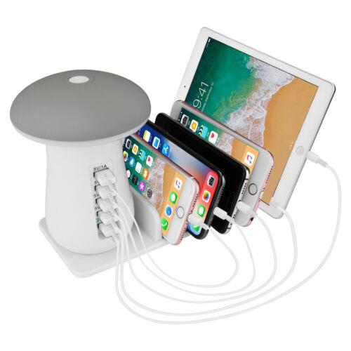 Pilz 5 Port USB Ladestation Multifunktion Ladestation Ladegerät Tischladestation