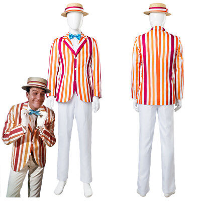 Mary Poppins and Bert 1964 Flim Herbert Alfred Dick Van Dyke Cosplay Men Costume - Mary Poppins And Bert Costume