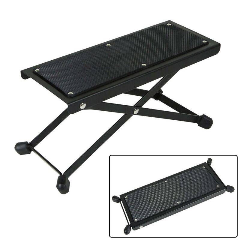 Folding Height Adjustable Anti-Slip Foot Rest Stand Footstool For Guitarists