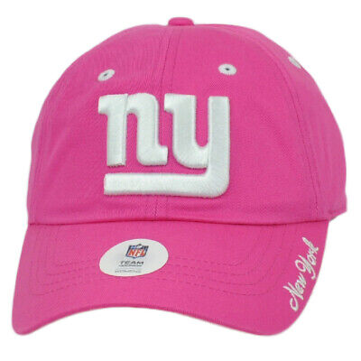 Pink Ny Giants (NFL New York Giants Pink Womens Ladies Relaxed Slouch Hat Cap Curved Bill)