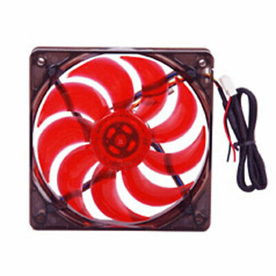 Red Led Fan (MASSCOOL 120mm Red LED Case Cooling Fan Power Supply)