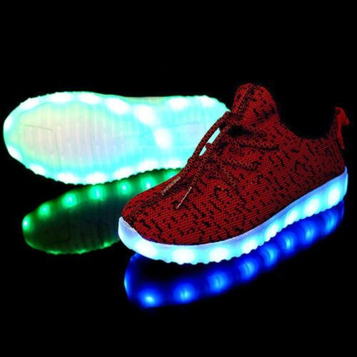 Children Kids LED Luminous Light up Shoes Cool Casual Sportswear Sneakers USA
