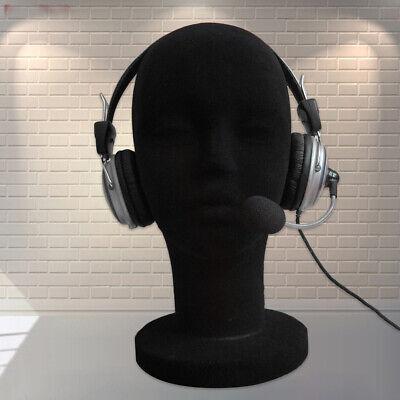 Female Foam Mannequin Head Manikin Headset Model Hair Wig Glasses Display Stand